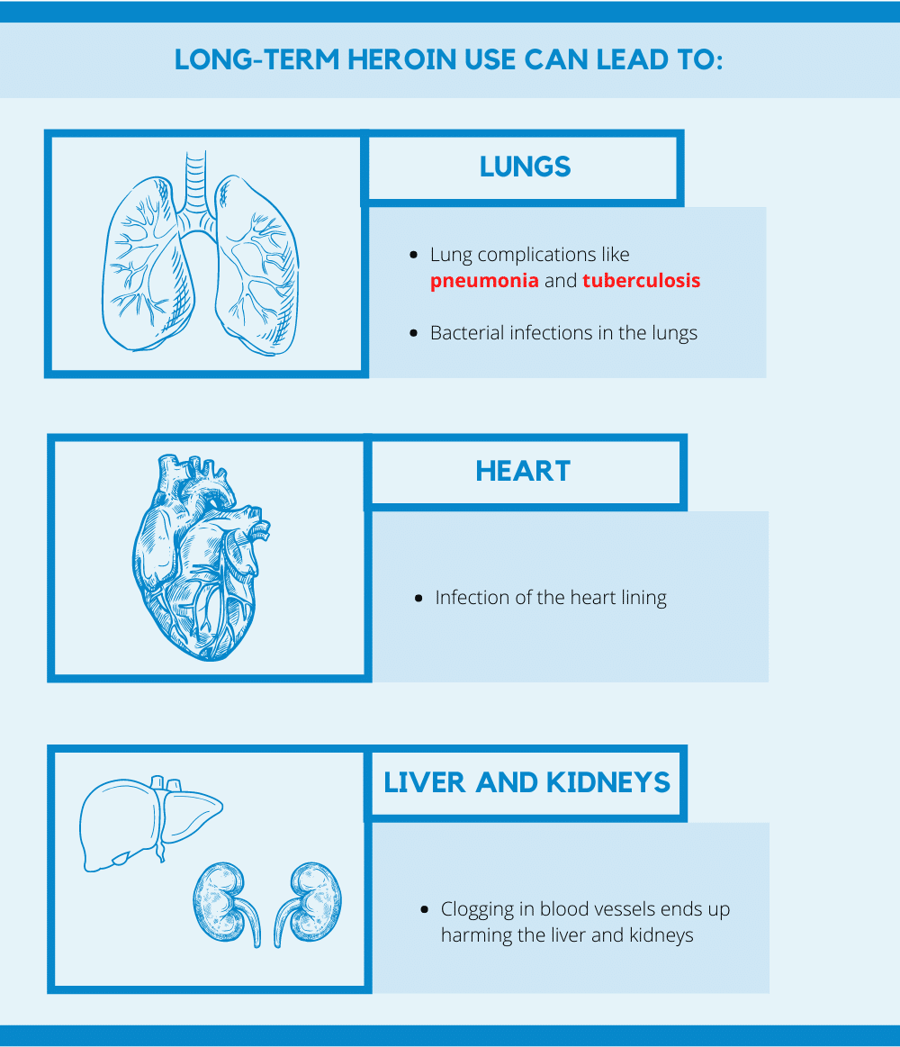 Effects of Heroin on the Human Organs